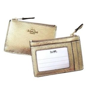 Coach keychain ID and card holder wallet